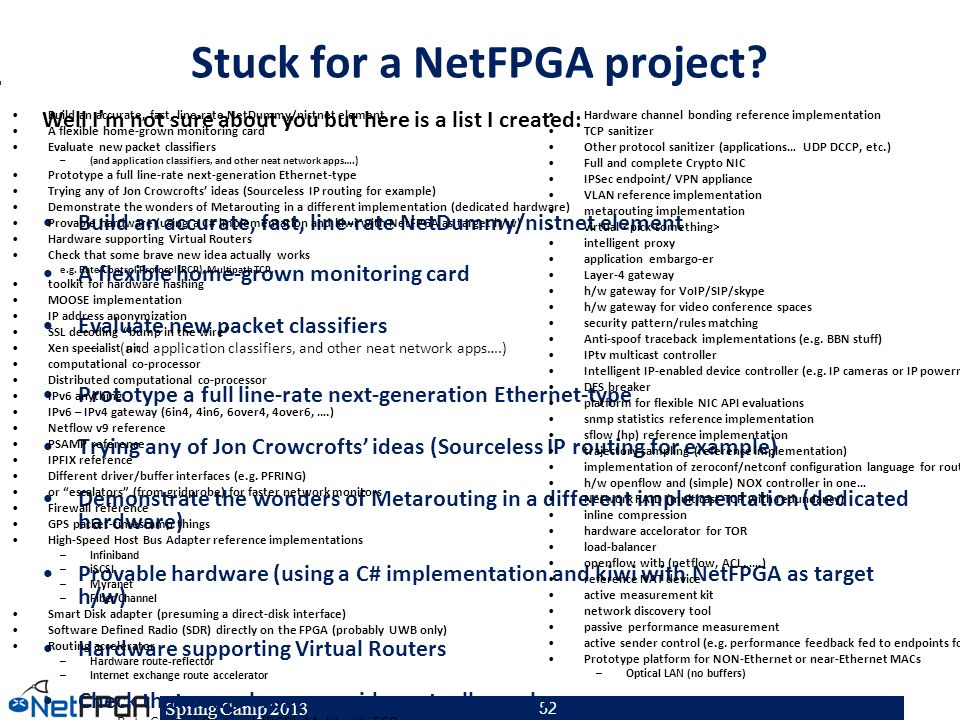 Stuck for a NetFPGA project