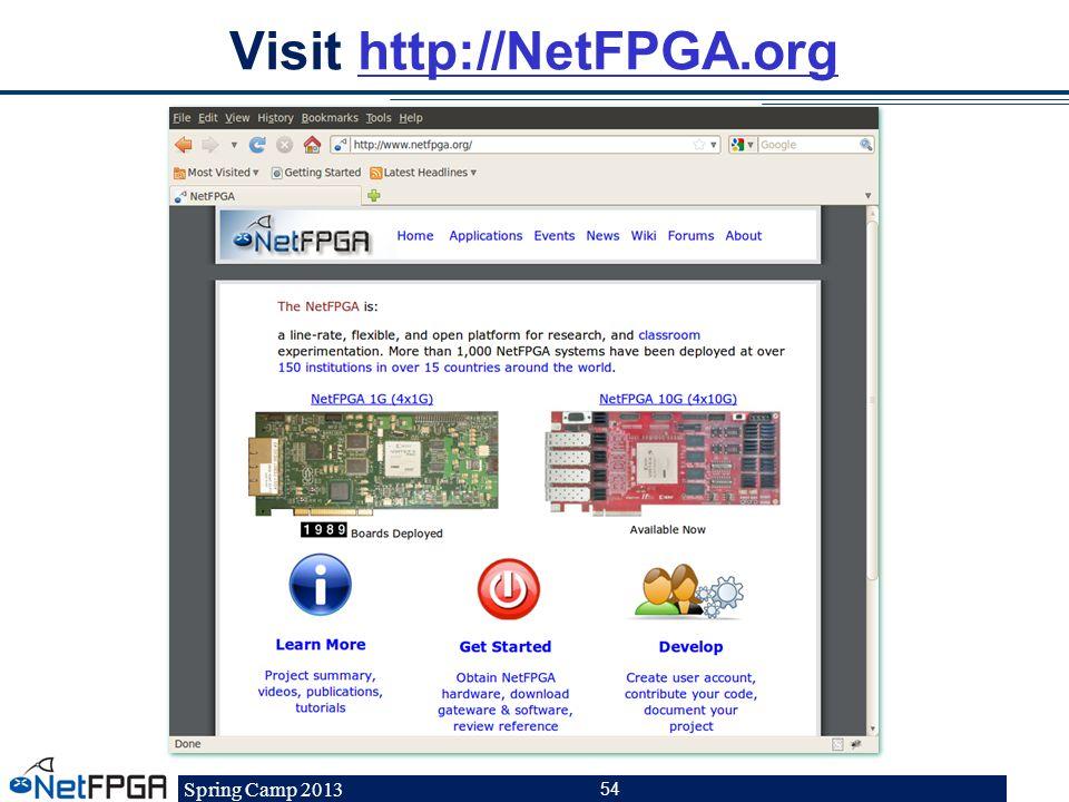 Visit http://NetFPGA.org
