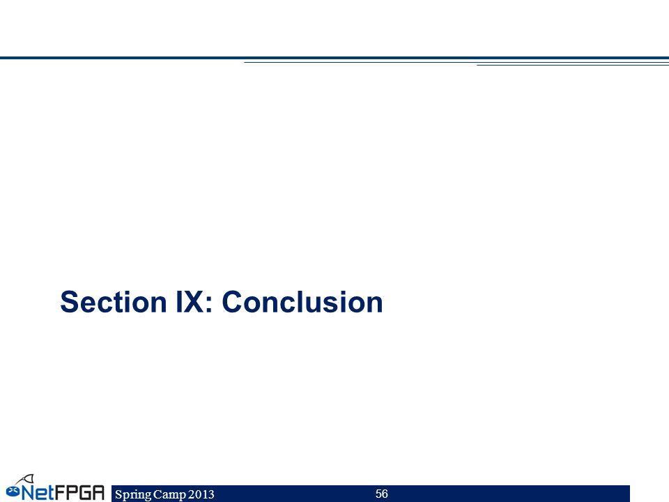 Section IX: Conclusion
