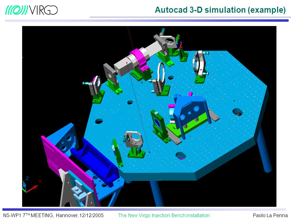 Autocad 3-D simulation (example)