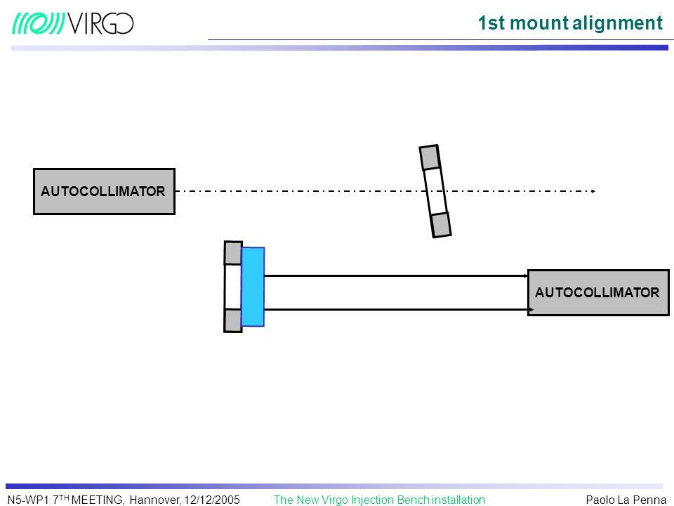 1st mount alignment AUTOCOLLIMATOR AUTOCOLLIMATOR