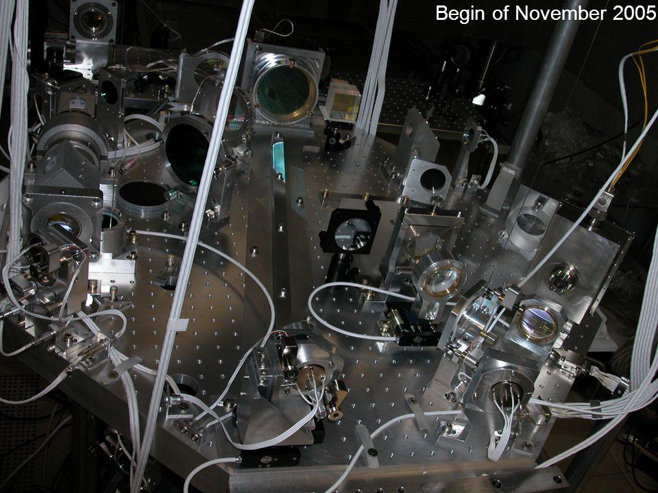 Begin of November 2005