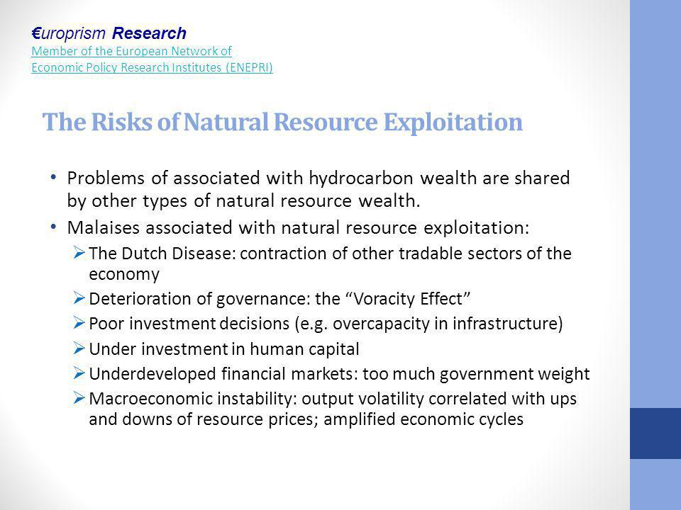 The Risks of Natural Resource Exploitation