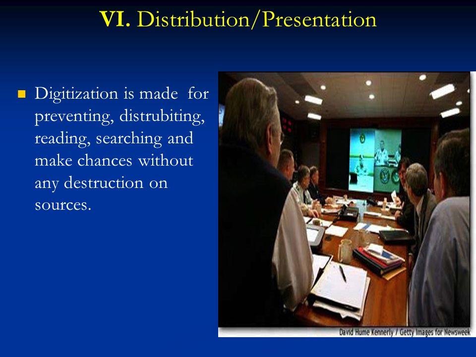 VI. Distribution/Presentation