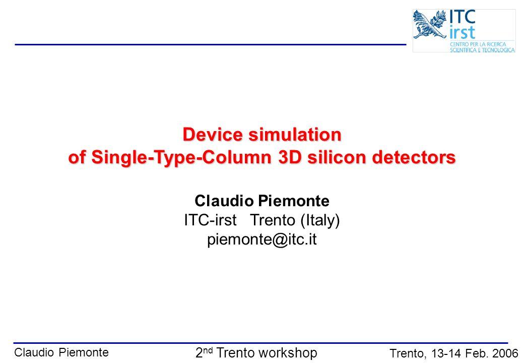 of Single-Type-Column 3D silicon detectors