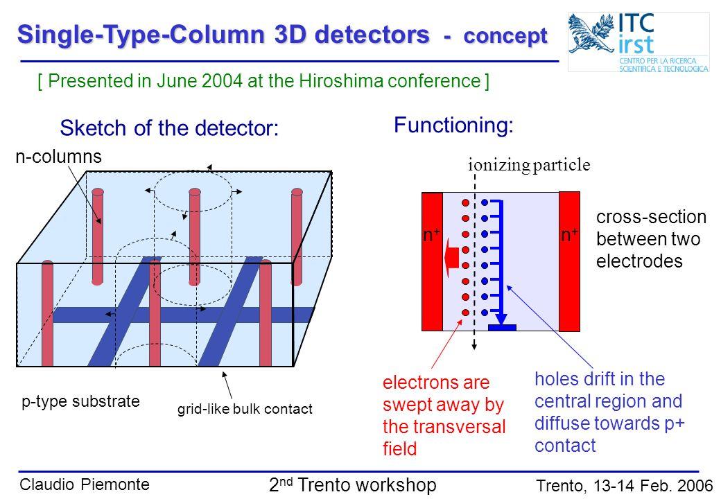 Single-Type-Column 3D detectors - concept