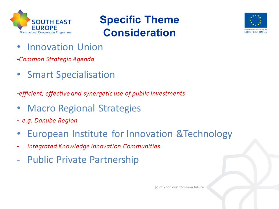 Specific Theme Consideration