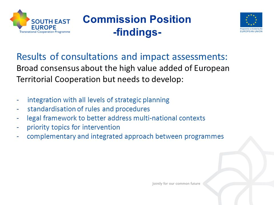 Commission Position -findings-