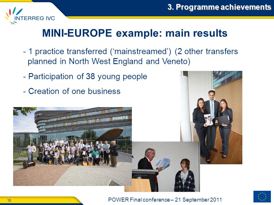 MINI-EUROPE example: main results