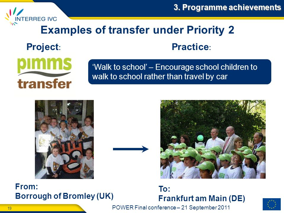 Examples of transfer under Priority 2