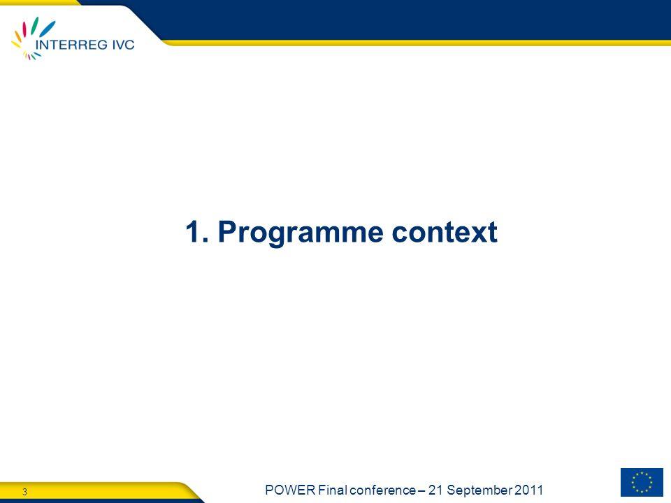 1. Programme context