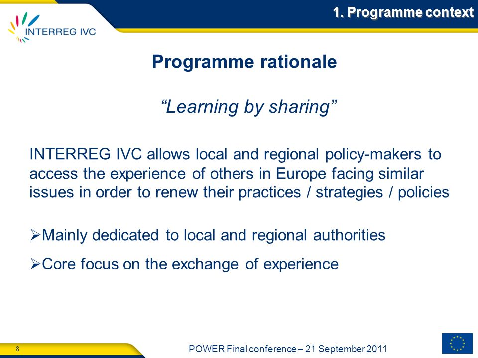 Programme rationale Learning by sharing