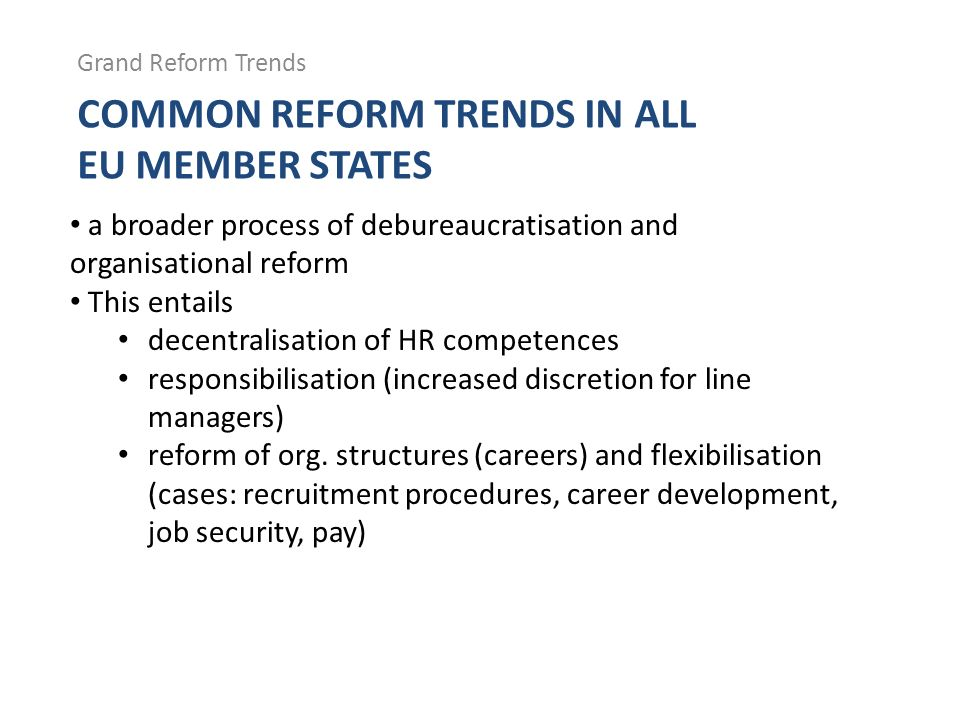 Common Reform Trends in All EU Member States
