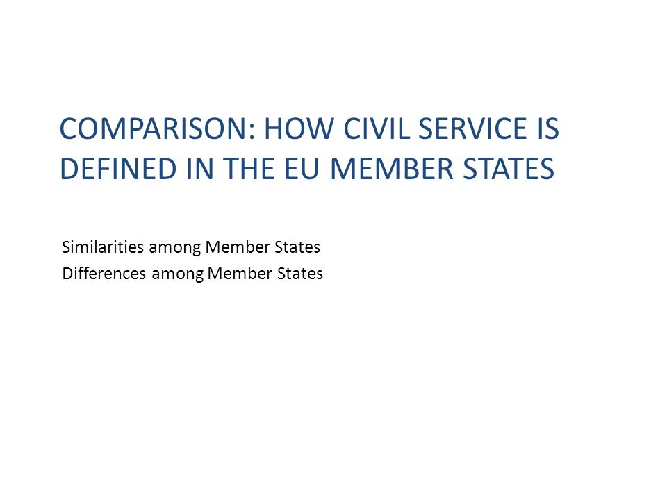 Comparison: How civil service is defined in the eu member states