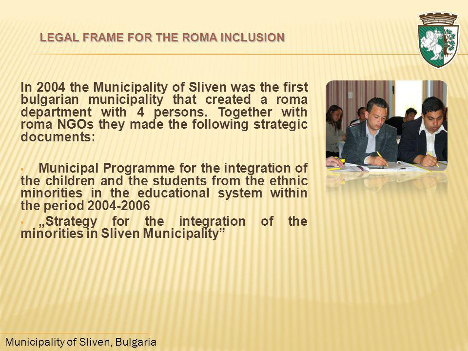 LEGAL FRAME FOR THE ROMA INCLUSION