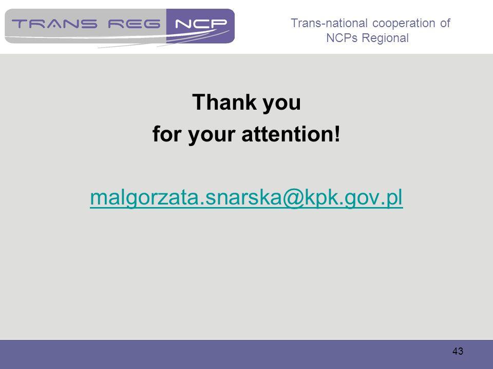 Thank you for your attention! malgorzata.snarska@kpk.gov.pl