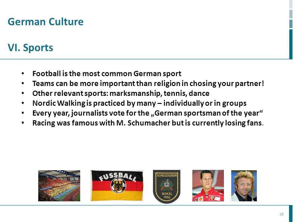 German Culture VI. Sports