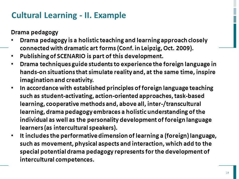 Cultural Learning - II. Example