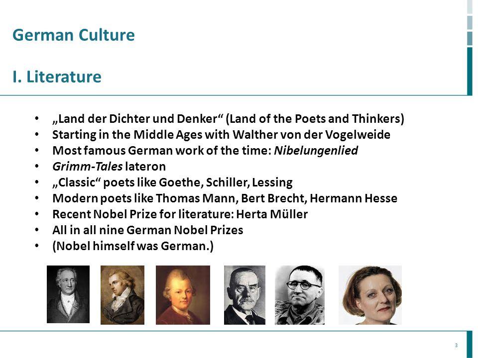 German Culture I. Literature