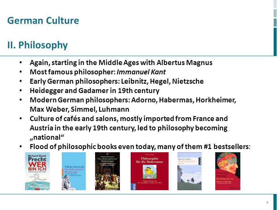 German Culture II. Philosophy