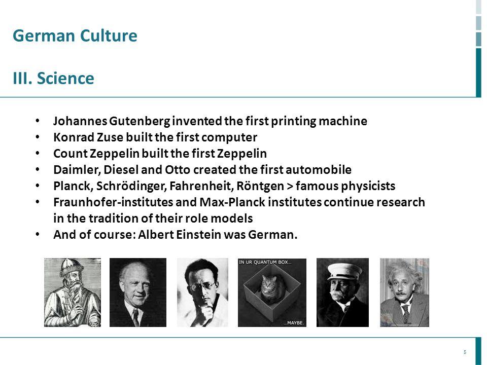 German Culture III. Science