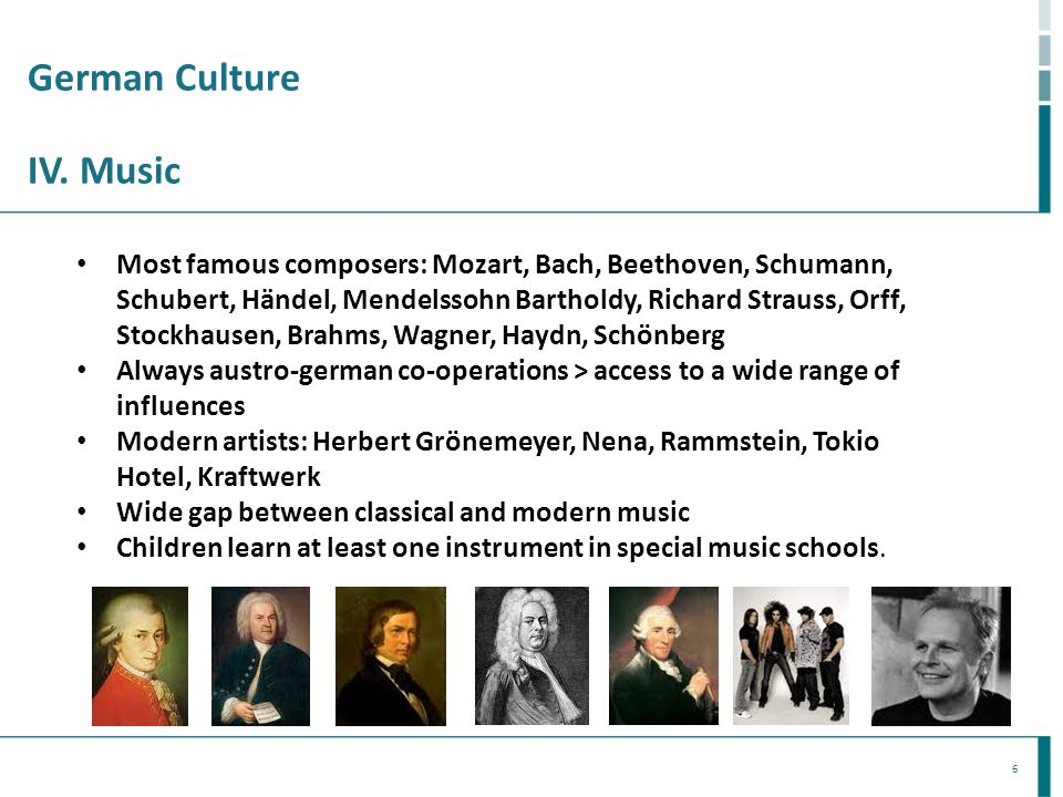 German Culture IV. Music