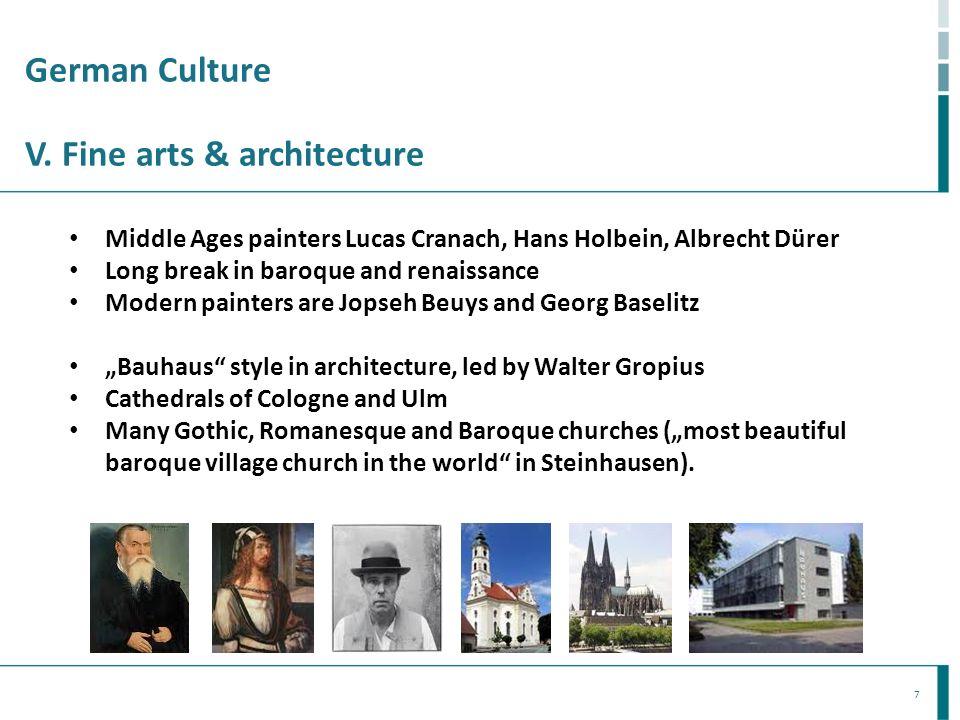 German Culture V. Fine arts & architecture