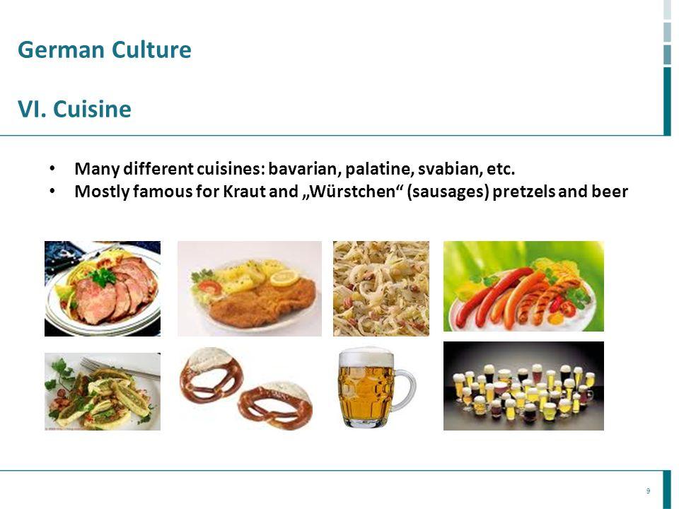 German Culture VI. Cuisine