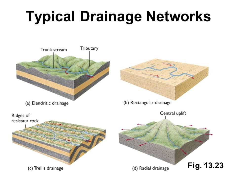 Typical Drainage Networks