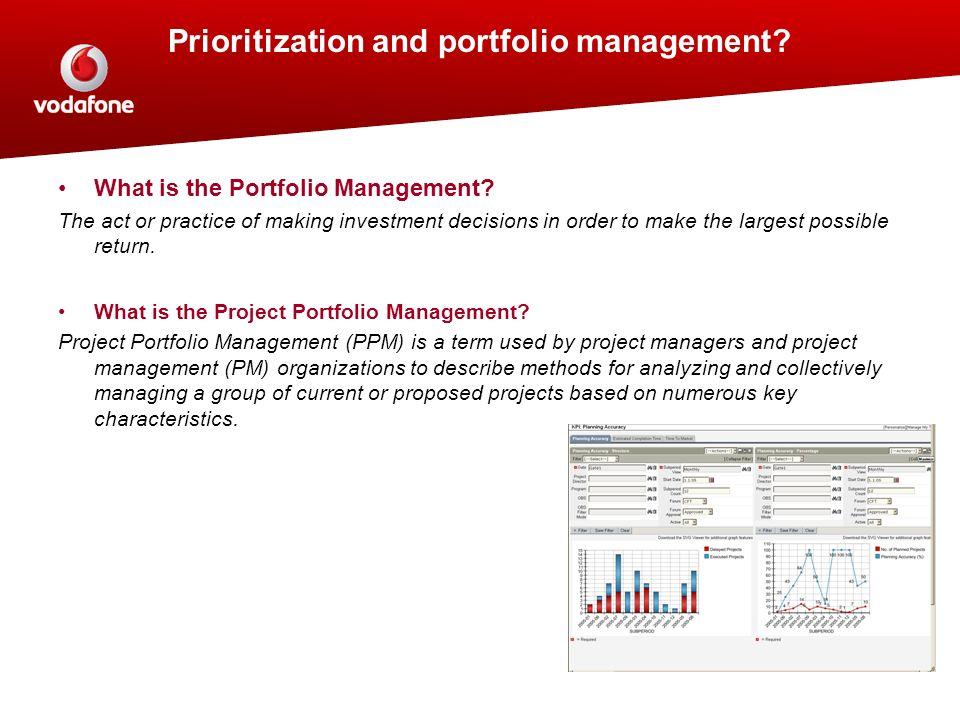 Prioritization and portfolio management