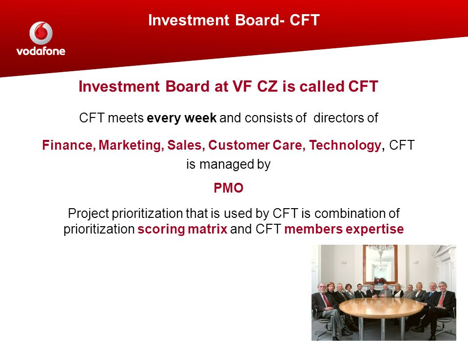 Investment Board at VF CZ is called CFT