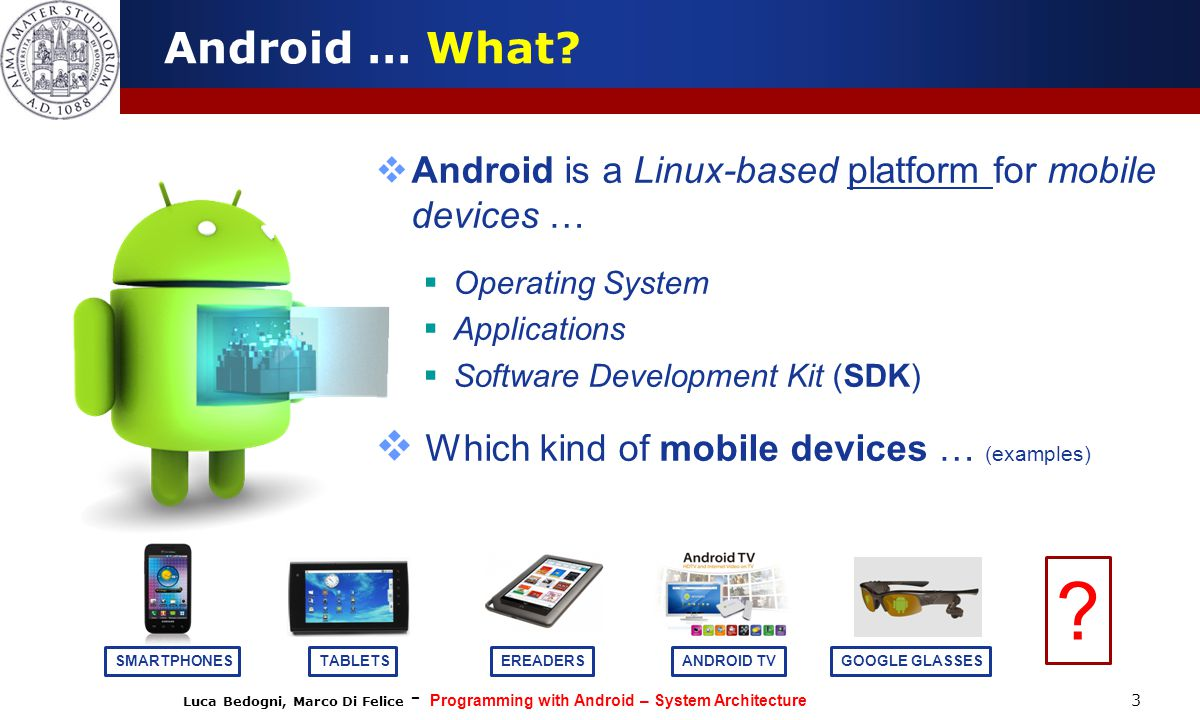 Programming with Android: System Architecture