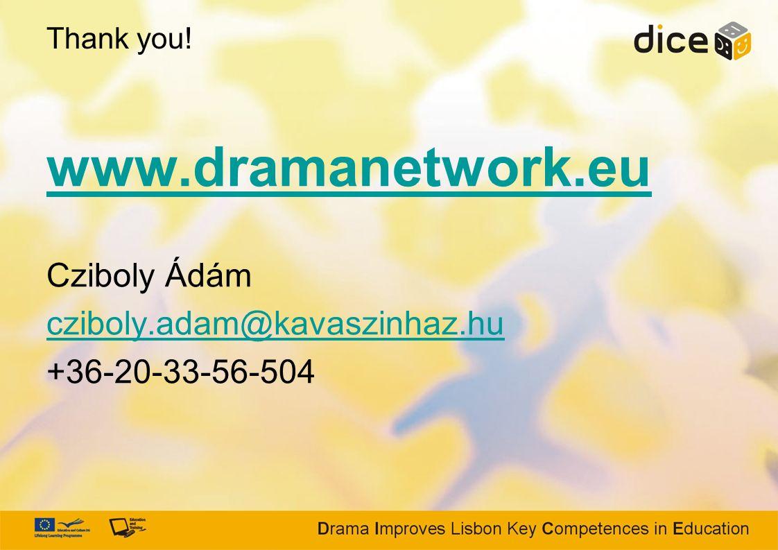 www.dramanetwork.eu Cziboly Ádám cziboly.adam@kavaszinhaz.hu