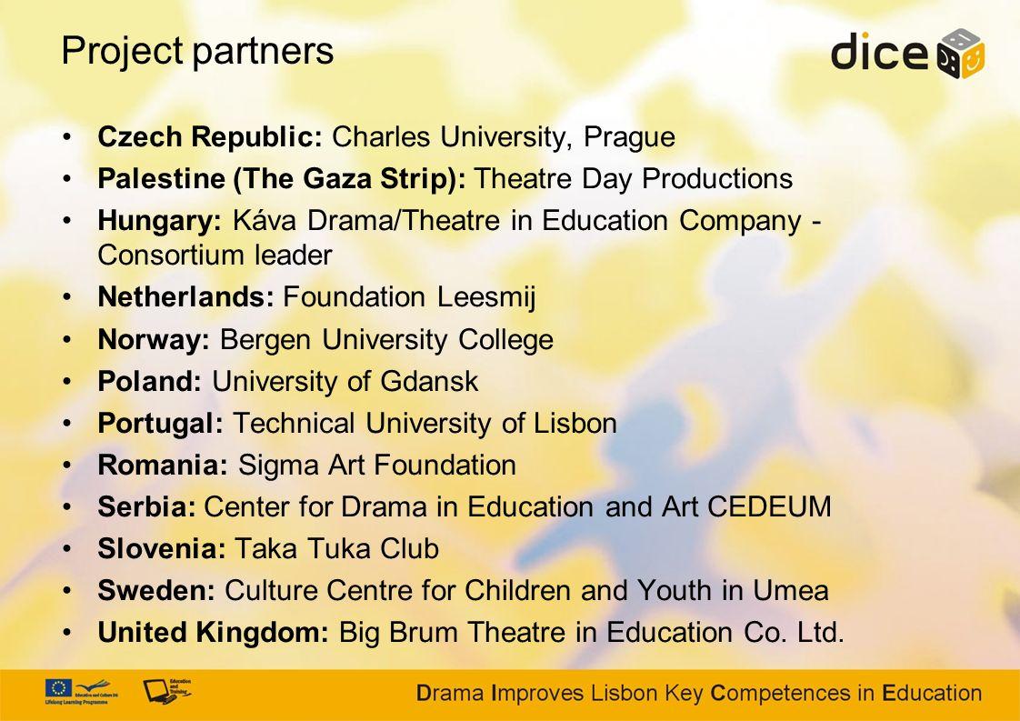 Project partners Czech Republic: Charles University, Prague