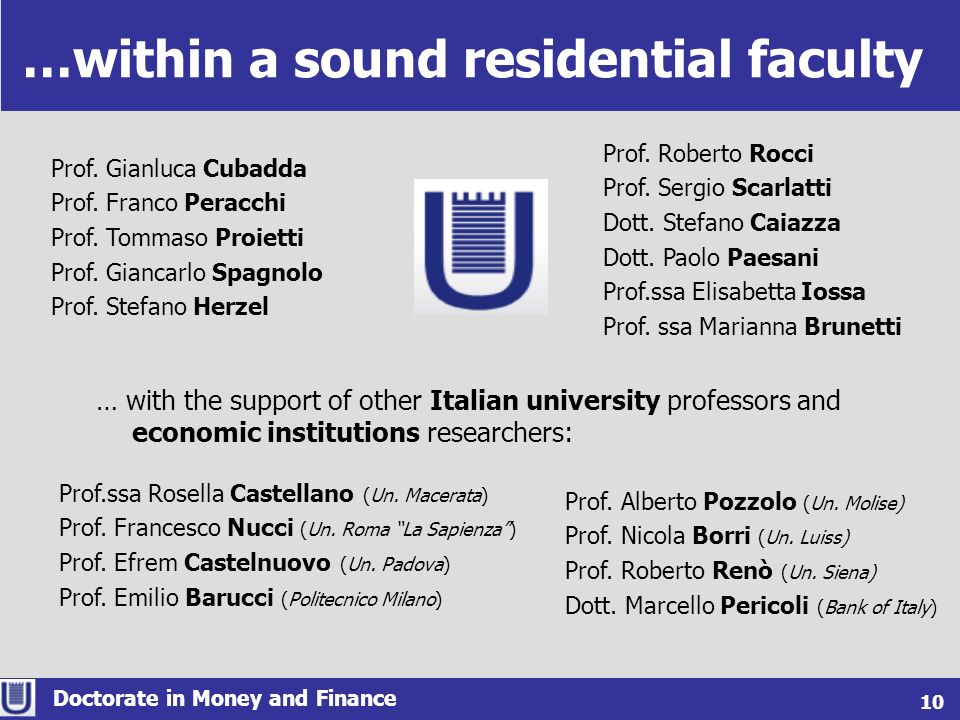 …within a sound residential faculty