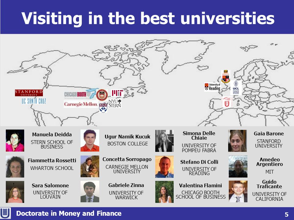 Visiting in the best universities