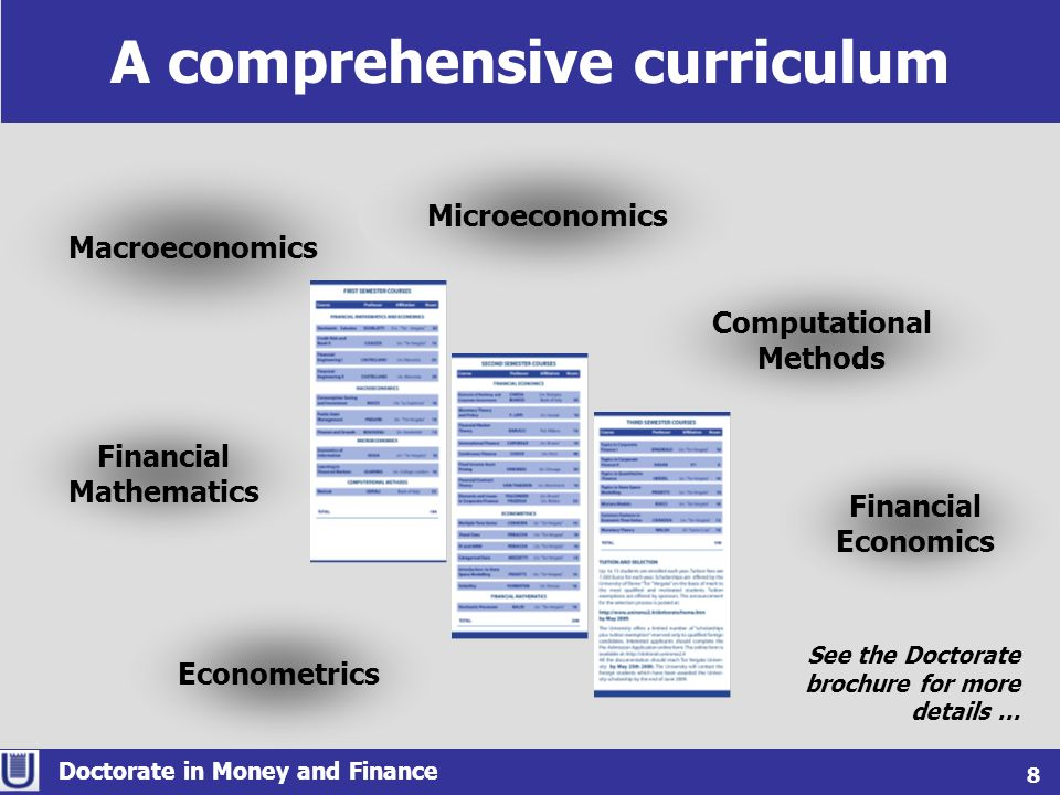 A comprehensive curriculum