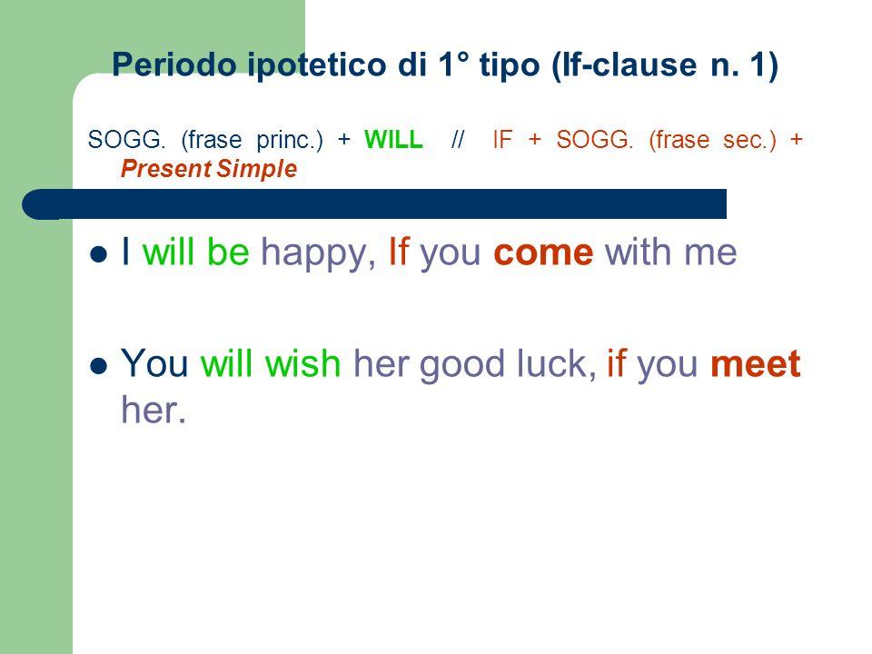 Periodo ipotetico di 1° tipo (If-clause n. 1)