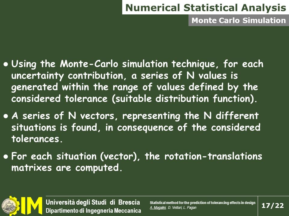 Numerical Statistical Analysis
