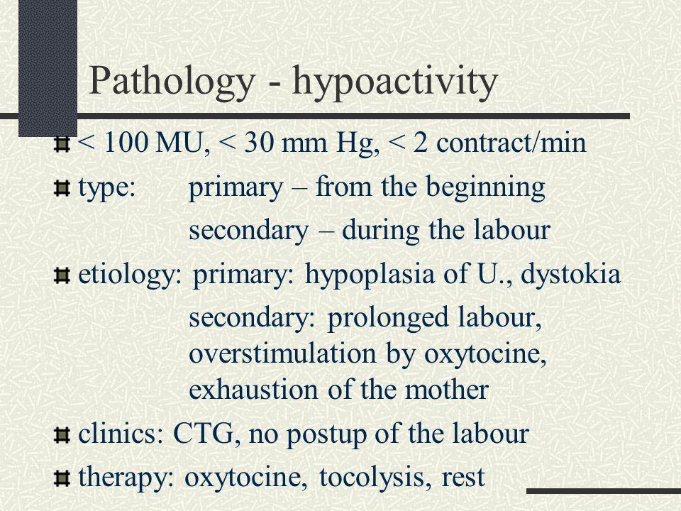 Pathology - hypoactivity