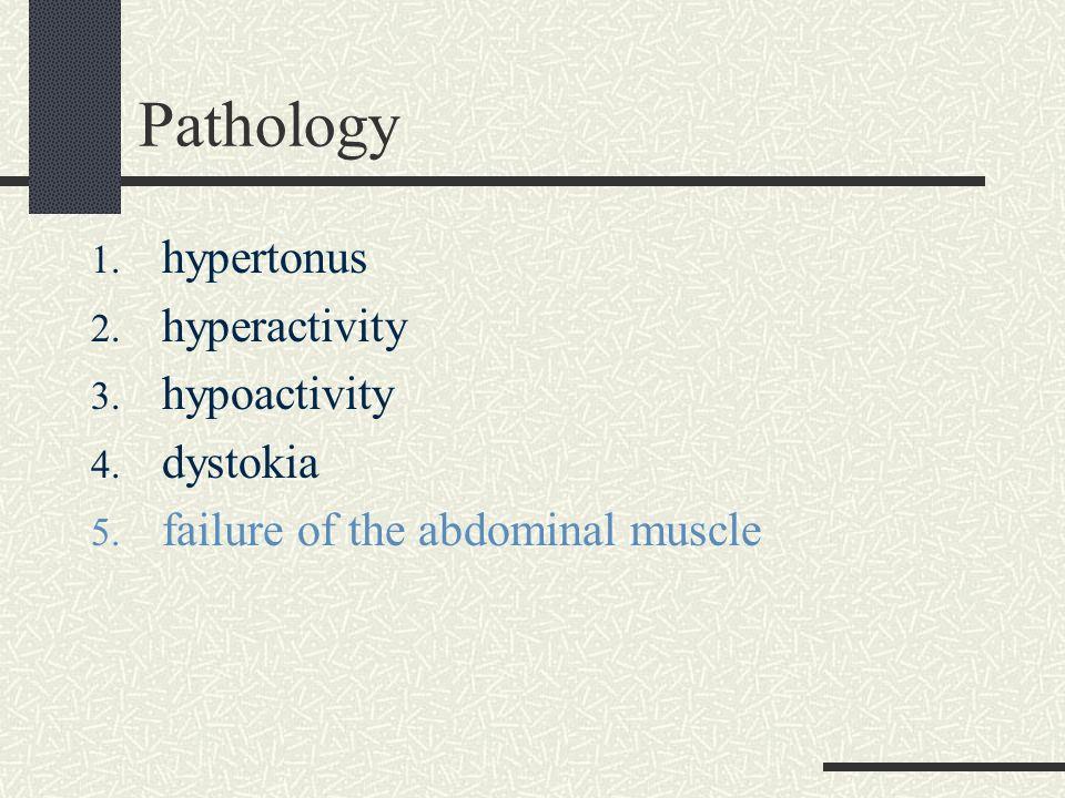 Pathology hypertonus hyperactivity hypoactivity dystokia