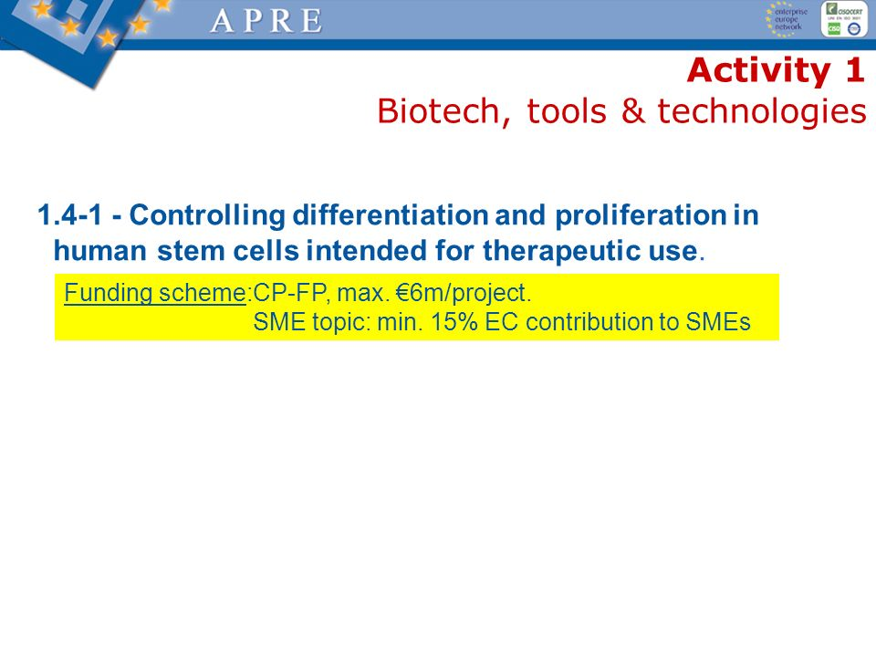 Activity 1 Biotech, tools & technologies