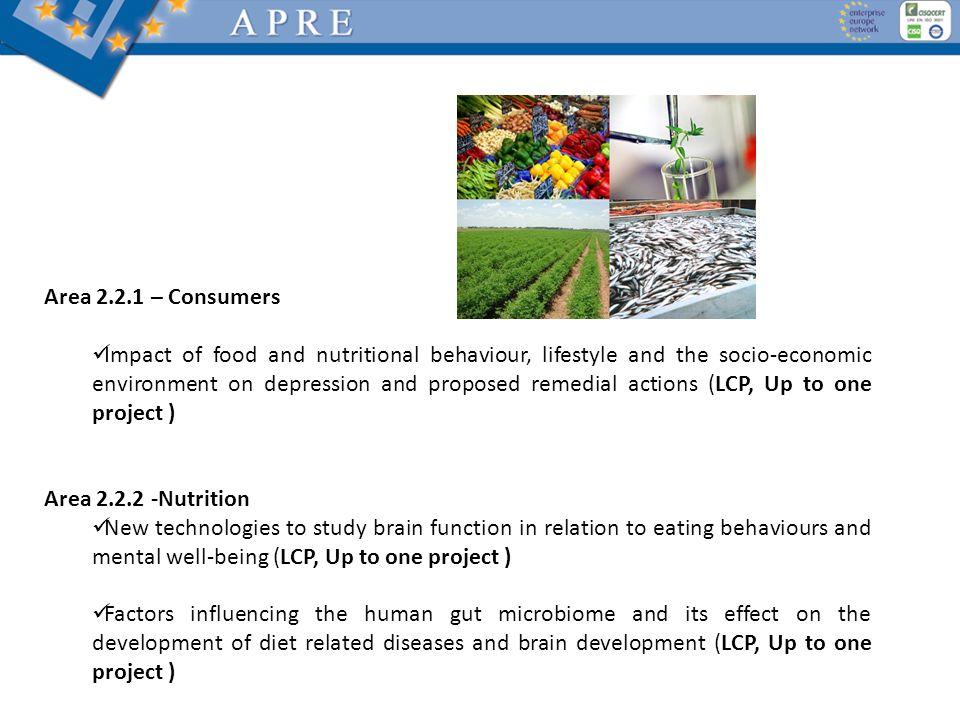 Area 2.2.1 – Consumers