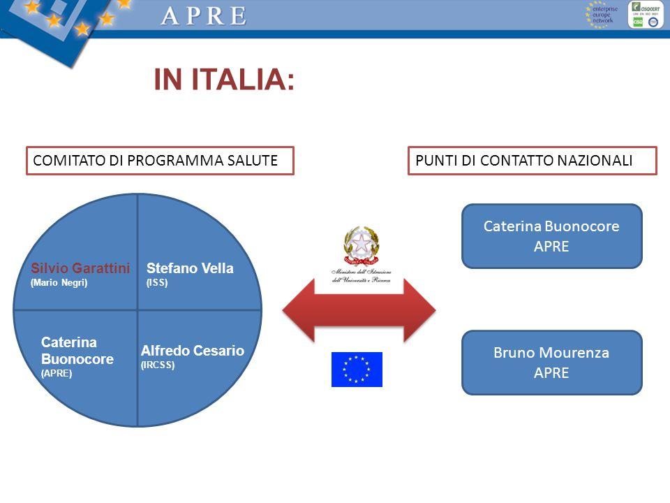 IN ITALIA: COMITATO DI PROGRAMMA SALUTE PUNTI DI CONTATTO NAZIONALI