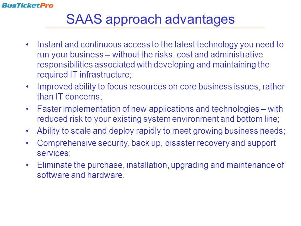 SAAS approach advantages