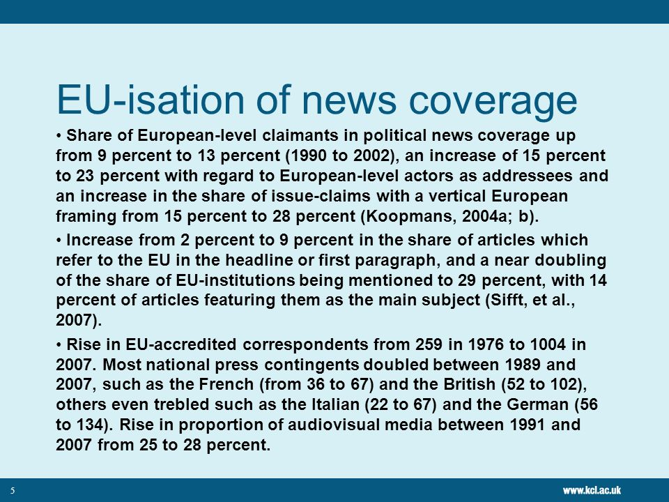 EU-isation of news coverage
