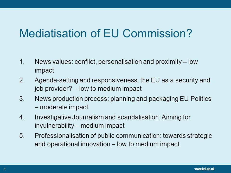 Mediatisation of EU Commission