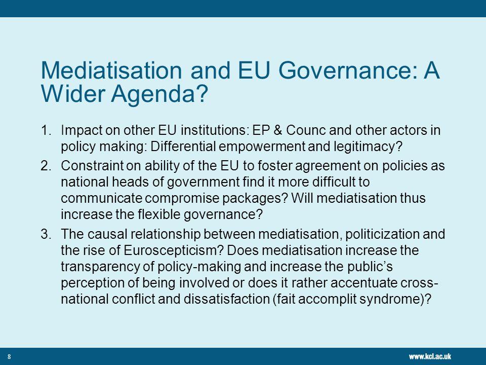 Mediatisation and EU Governance: A Wider Agenda