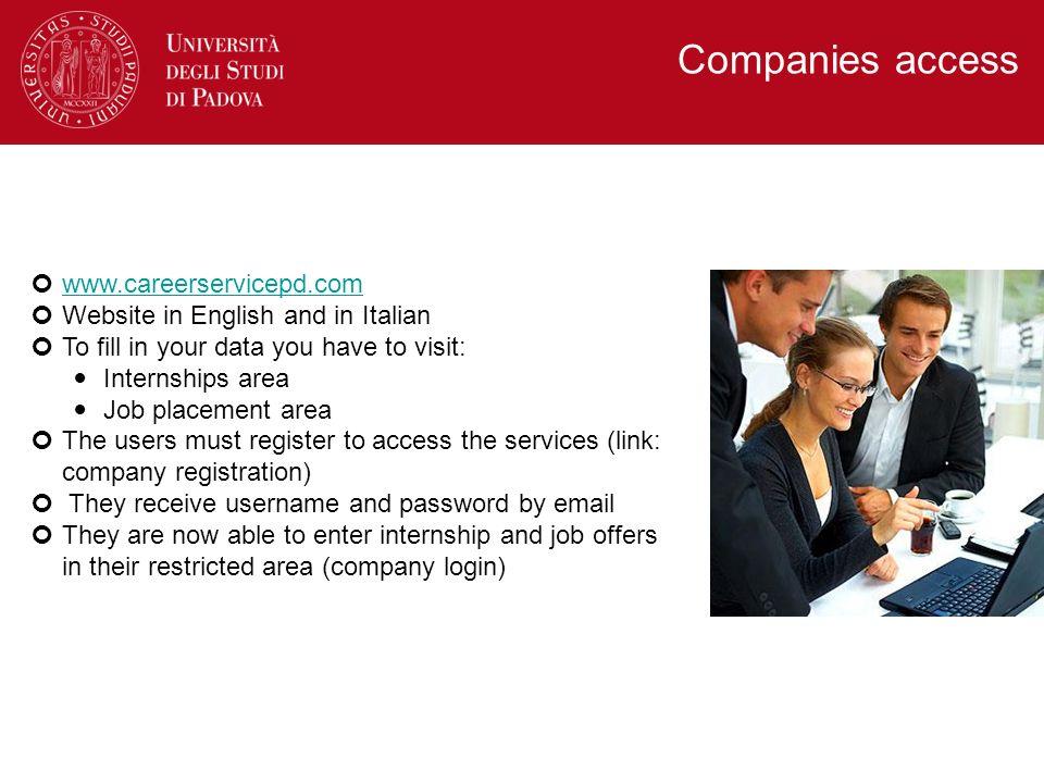 Companies access www.careerservicepd.com