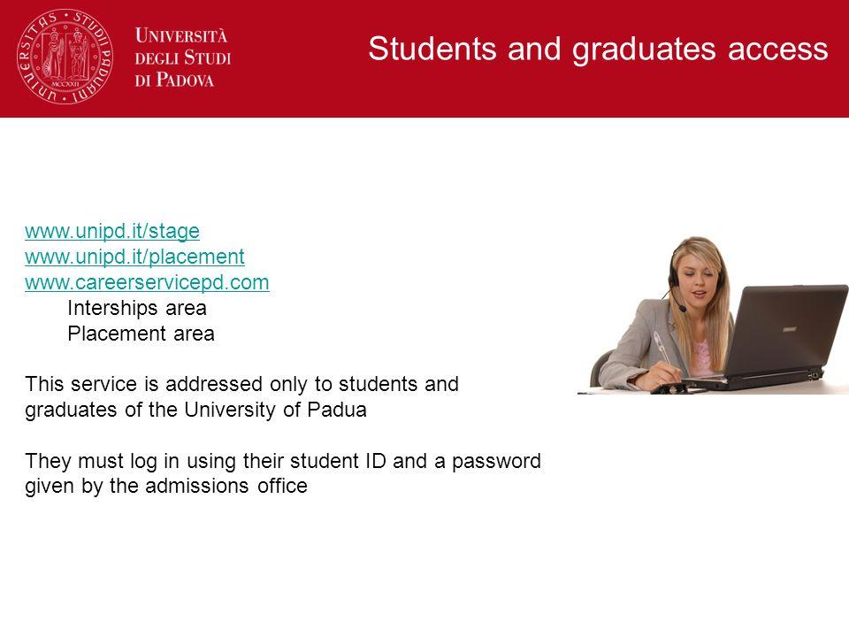 Students and graduates access
